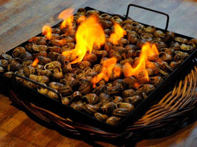 Caracoles a la llauna que comer en Lleida