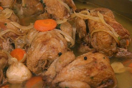 Codornices en escabeche comida típica de Guadalajara